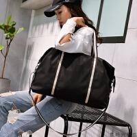 2019防水时尚手提旅行包女男装衣服的包包单肩行李包大容量短途包 黑色 HB622 大