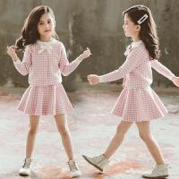 女童毛衣套装春装女孩儿童装中大童毛线套裙