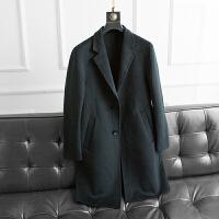 中长款韩版新款双面羊绒大衣男手工羊毛呢修身西装领双面呢外套潮 4/体重215以下