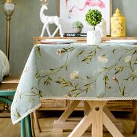 美式乡村田园碎花桌布正方形八仙桌桌布茶几餐桌布蕾丝台布麻布艺