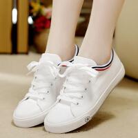 初中生帆布鞋女板鞋白鞋平底中学生大童运动鞋白色球鞋百搭小白鞋