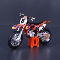 比美高KTM摩托车模1:18 高仿真合金原厂达喀尔拉力赛越野汽车模型