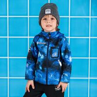 【3折价89.7】安踏童装 男小童梭织运动上衣儿童运动服35839646 海滨蓝-1