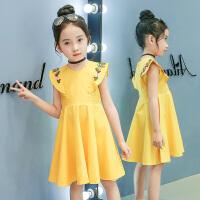 女童连衣裙夏夏装公主裙韩版时尚童装女孩中大童儿童裙子
