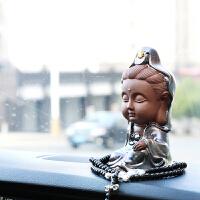 汽车内饰品摆件创意可爱车载佛像车上装饰用品个性观音保平安