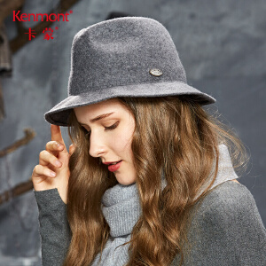 卡蒙可折叠黑色礼帽女英伦爵士帽欧美秋冬季毛呢帽子全羊毛毡帽2624