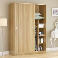 衣柜推拉门简易实木木质定制整体组装卧室移门简约现代经济型柜子