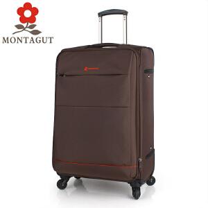 梦特娇MONTAGUT拉杆箱万向轮旅行箱 耐磨密码箱男女登机箱子行李箱 防水牛津布