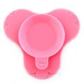 儿童餐垫宝宝吸盘碗硅胶吸盘垫餐垫一体防摔餐盘硅胶餐垫宝宝婴儿吸盘碗餐桌垫便携粉红色f7d
