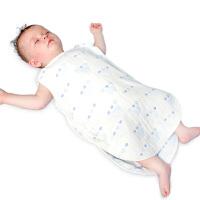 男孩六层纱布睡袋婴儿童无袖背心式宝宝睡袋夏季薄款空调防蹬防踢被子 戏水玩具 婴儿睡袋