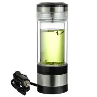 自驾车载电热水杯12V 汽车用热水器100度加热杯子迷你烧水壶用电玻璃电水壶