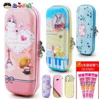 小学生可爱卡通笔袋女童公主儿童创意文具盒韩国笔盒大容量铅笔袋