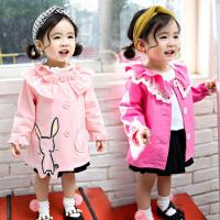 女童上衣春装公主儿童中长款开衫宝宝休闲洋气外套