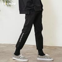 VIISHOW2018新款休闲裤男 潮牌接头男士束脚裤青年长裤学生运动裤