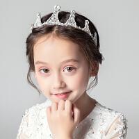 女童生日表演皇冠头箍花童婚纱王冠水钻配饰儿童公主礼服头饰发箍