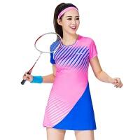 网球羽毛球服连衣裙女款连体裙修身速干透气运动裙裤套装
