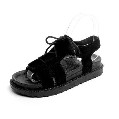 O'SHELL法国欧希尔新品060-3888韩版磨砂绒面松糕底女士凉鞋