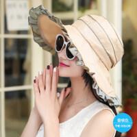 遮阳帽夏天女韩版时尚大沿防晒帽遮脸太阳帽女士凉帽