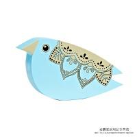 现代简约蓝鸟摆件创意家居动物工艺品书房卧室乡村田园装饰品 天蓝色 蓝鸟摆件