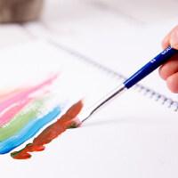得力文具73866水粉画笔水粉水彩丙烯颜料油画笔套装吸水性强4支装美术画笔水粉笔水彩笔
