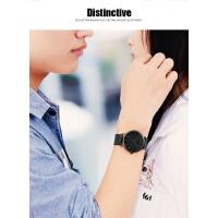 男士户外石英表钢带防水超薄韩版情侣手表一对价学生非机械表