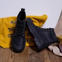 唐狮秋冬季韩版男皮靴舒适高帮马丁靴休闲鞋潮英伦工装长靴