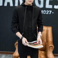 秋季新品韩版男士外套薄潮流连帽青年秋装外衣男装风衣青少年