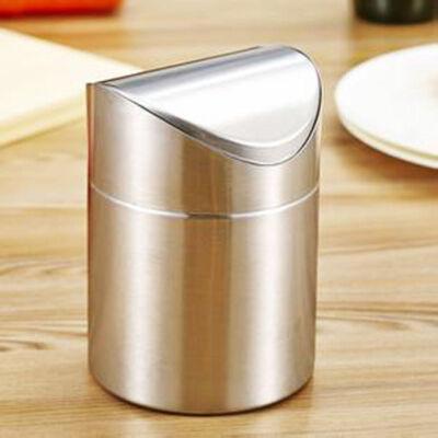 桌面垃圾桶不锈钢垃圾桶翻盖 原色 发货周期:一般在付款后2-90天左右发货,具体发货时间请以与客服协商的时间为准