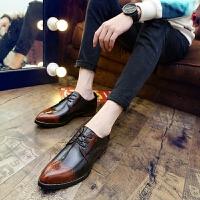 CUM 潮牌 男士商务正装黑色漆皮鞋男秋季男士英伦尖头内增高男鞋子发型师皮鞋小皮鞋