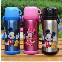 迪士尼保温杯不锈钢儿童保温杯米奇学生保温瓶水壶宝宝保温杯