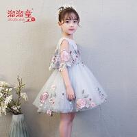 儿童礼服公主裙走秀短款蓬蓬裙新款花童婚纱女孩生日演出服夏季