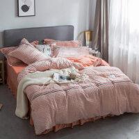 立体魔法绒四件套棉秋冬季保暖法莱绒水晶绒床上三件套被套床单