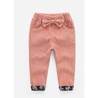 女童灯芯绒长裤1-3儿童春装休闲裤春秋婴儿外裤2-5两岁女宝宝裤子