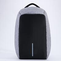 充电防盗背包15寸男女14笔记本电脑双肩包15.6/寸 现货-灰色 14寸