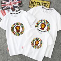 短袖T恤婴儿母子母女装2018亲子装夏全家装新款潮韩版一家三四口