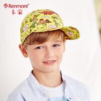 kenmont儿童帽子春夏天卡通鸭舌帽防晒遮阳韩版潮时尚男童棒球帽4701
