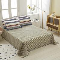 伊迪梦家纺 全棉单品床单简约时尚床上用品 全活性印染高支高密纯棉面料 单双人大小床型ch502