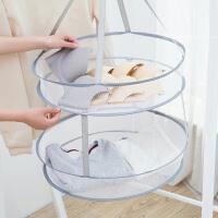 可折叠晾衣篮平铺晾晒网晒衣网双层晾衣服的网兜毛衣晒衣篮