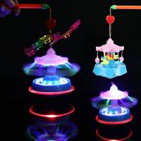 儿童电动手提灯笼 卡通发光旋转木马玩具 元宵节小孩礼物夜市 旋转木马灯笼