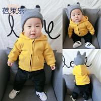 婴儿衣服男女宝宝秋冬童装长袖1岁6个月潮款春秋装连帽卫衣外套