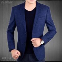 春秋季新款休闲西服外套男士韩版修身薄款小西装男中年单西装上衣