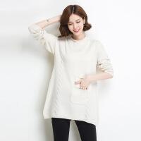秋冬新品女士羊毛衫 韩版中长款半高领纯色针织毛衣打底衫 均码