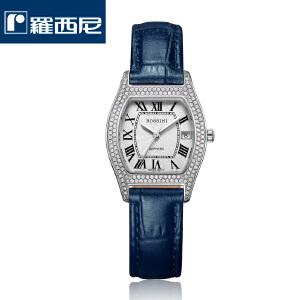 【罗西尼时尚魅力系列】厂家直送百搭必备手表镶钻石英表酒桶型皮带时尚女表DD12314398