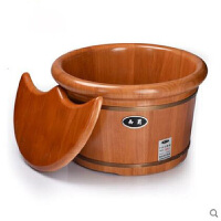 橡木足浴桶泡脚木桶泡脚木盆洗脚桶足疗桶带盖木质洗脚木盆