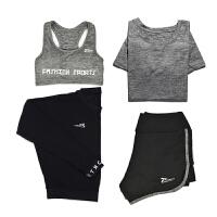 2017新款运动套装女跑步衣服紧身裤专业健身房速干衣带胸垫瑜伽服