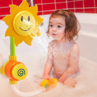 儿童向日葵花洒 宝宝洗澡沐浴玩具水龙头喷水婴儿游泳池玩水玩具
