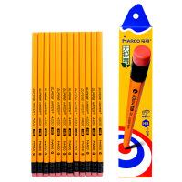 马可书写办公原木HB 2B比学生绘图绘画带橡皮擦头的铅笔4200