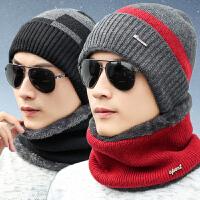 冬季帽子男冬天潮针织毛线帽骑车帽棉帽