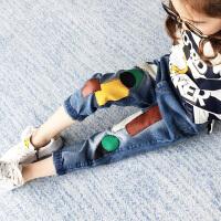 女童牛仔裤春秋新款中大童韩版宽松裤子6-8岁儿童男童长裤10