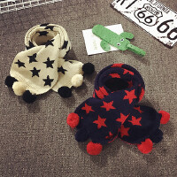 新款儿童围巾秋冬季保暖男宝宝围脖针织毛线女童围巾韩版婴儿